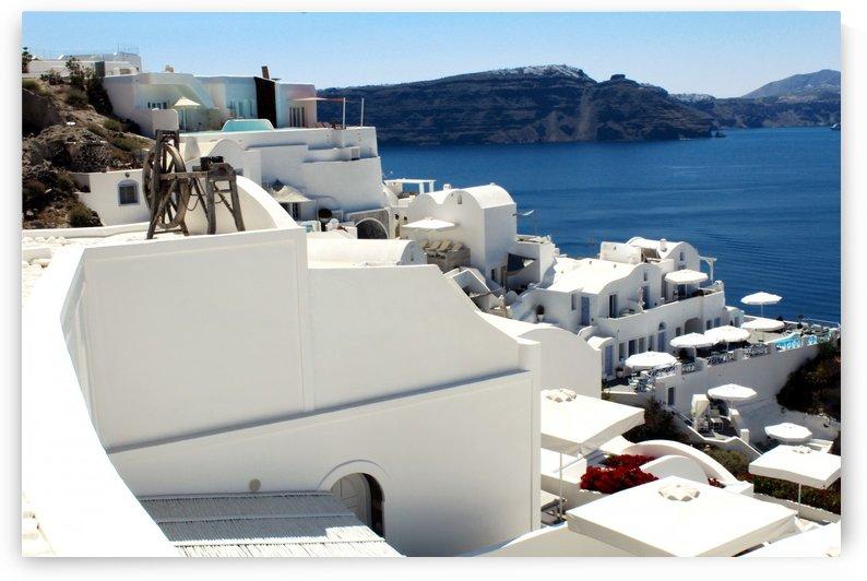 White Santorini Landscape - Greece by Alessandro Ricardo Bentivoglio Uva