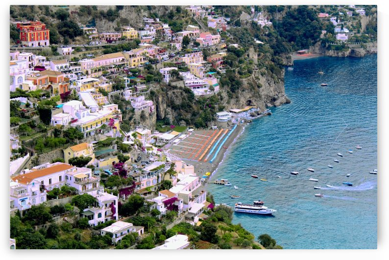 Aerial view of Positano Beach - Italy by Bentivoglio