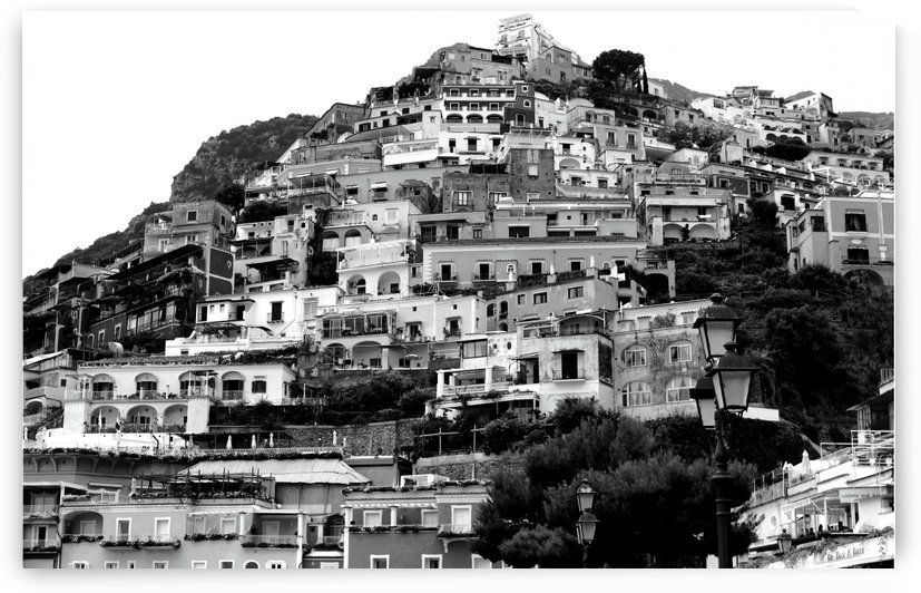 Black and White Landscape - Positano - Italy by Bentivoglio