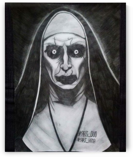 Valak Conjuring 2 100% pencil art by Alena Myst