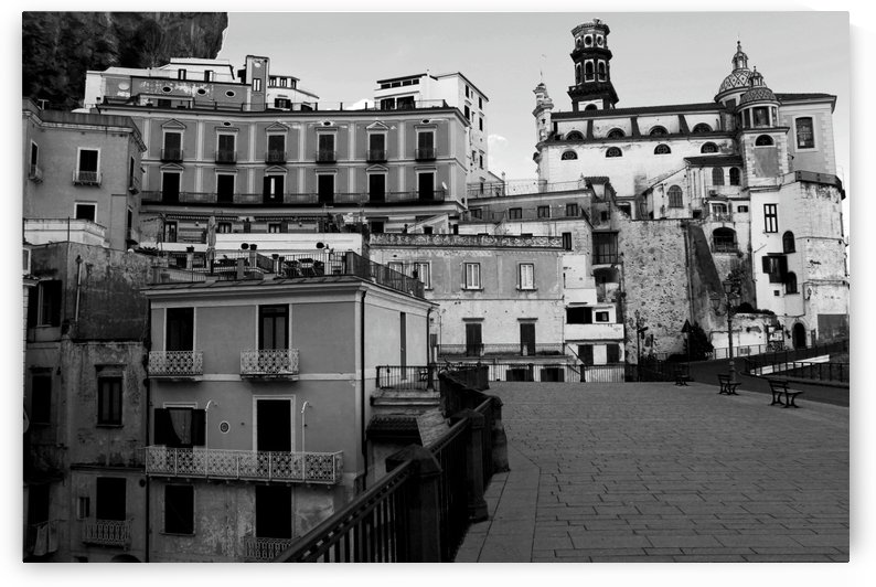 Atrani Village Black and White - Amalfi Coast - Italy by Bentivoglio