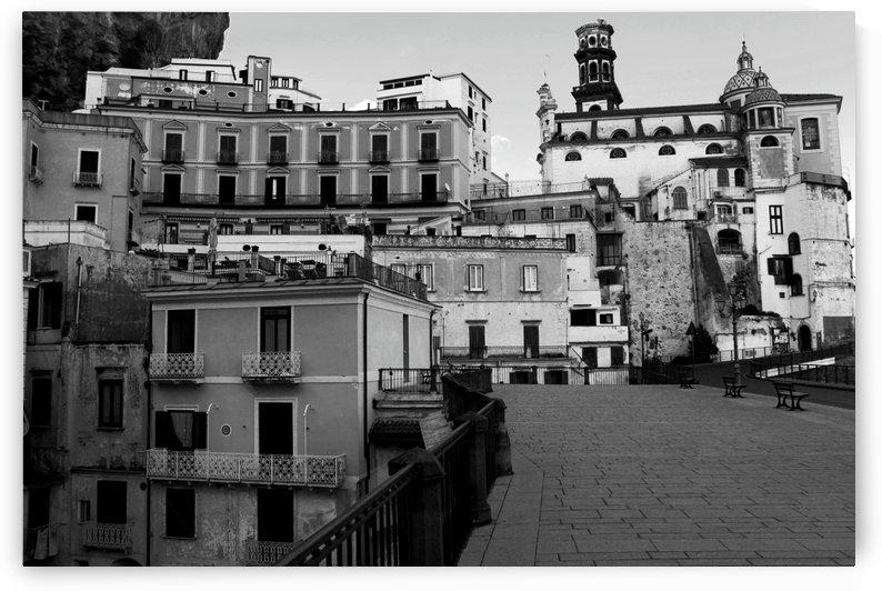 Atrani Village Black and White - Amalfi Coast - Italy by Alessandro Ricardo Bentivoglio Uva