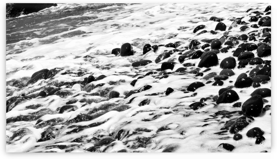 Beach Rocks Black and White II by Bentivoglio Photography