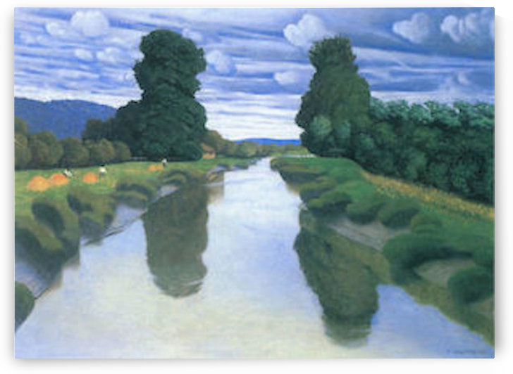 The River at Berville by Felix Vallotton by Felix Vallotton