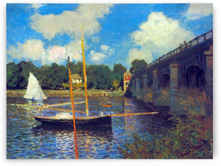The road bridge, Argenteuil by Monet by Monet