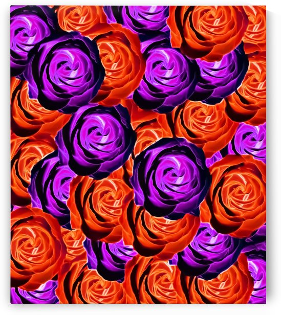 blooming rose texture pattern abstract background in red and purple by TimmyLA