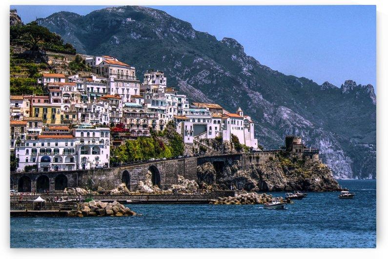 Artistic Amalfi Coast Landscape by Alessandro Ricardo Bentivoglio Uva