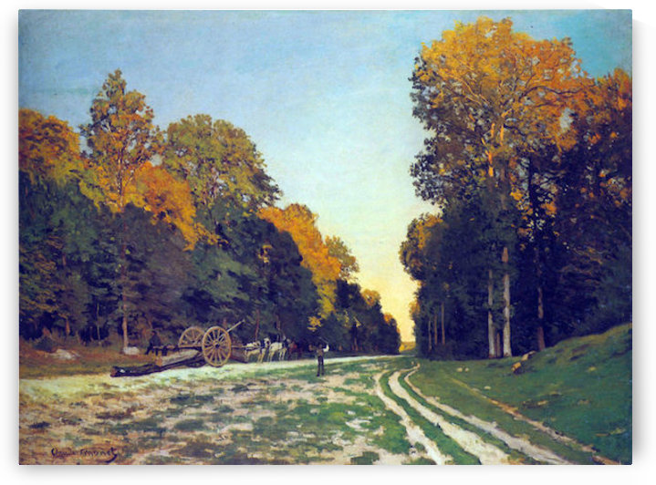 The road from Chailly to Fontainebleau by Monet by Monet