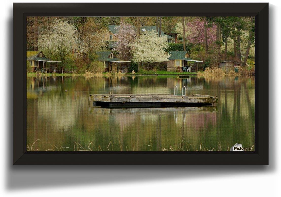 LAKE SIDE REFLECTIONS by Kim Stewart