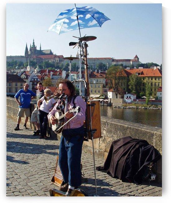 Charles Bridge Prague Street Musician by Darryl Green