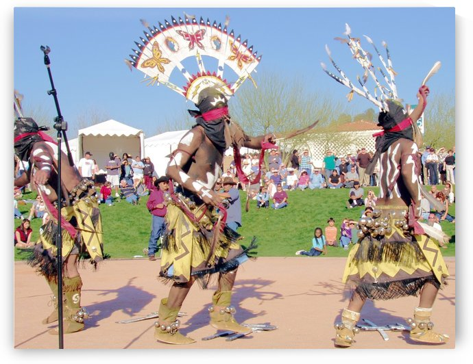 Apache Indian Tribal Ceremony by Darryl Green