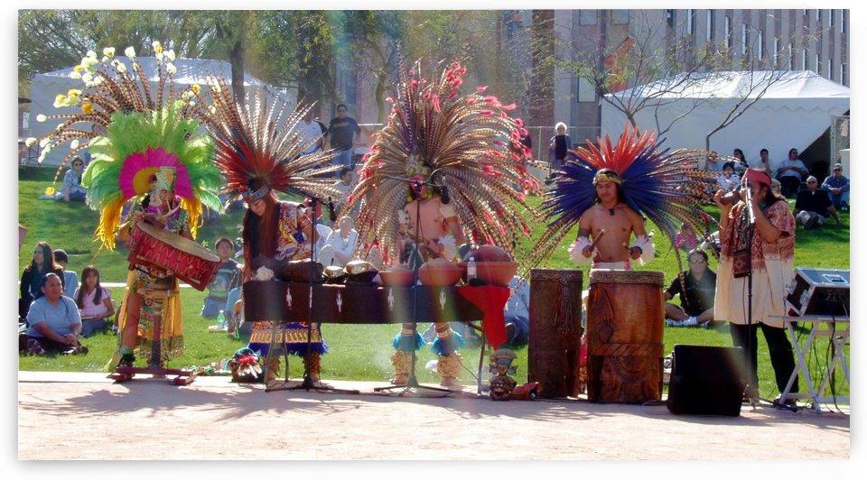 Native Americans in Fancy Headdress by Darryl Green