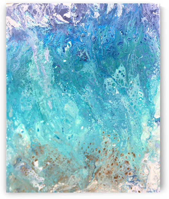 Abstract  Wave Painting by Darryl Green