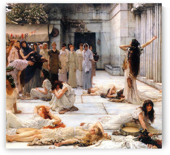 The women of Amphissa, detail by Alma-Tadema by Alma-Tadema