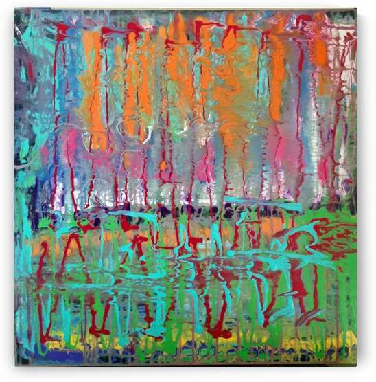 Three Ring Circus a Colorful Abstract Painting by Darryl Green