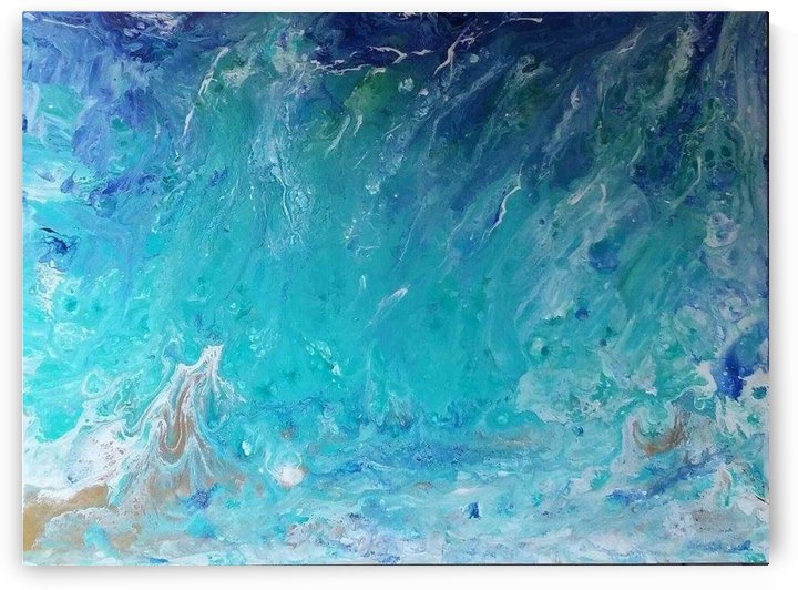 Wet an Abstract wave by Darryl Green