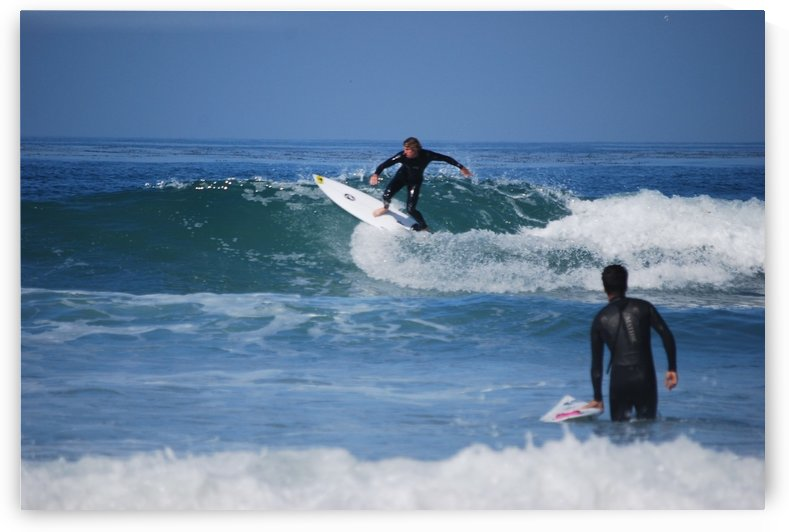 Guy Surfing In California by Darryl Green