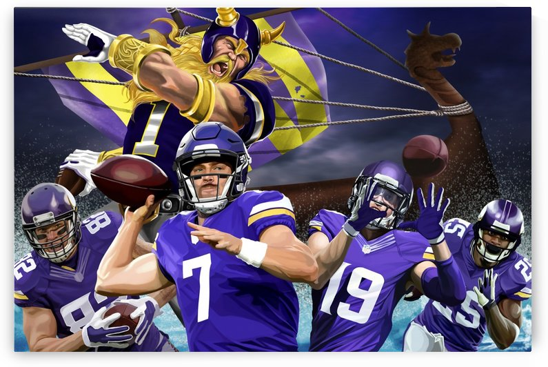 VIKINGS Football by Football Art