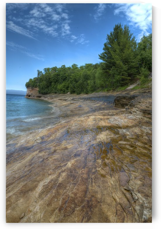 Rocky Shoreline by Paul Winterman
