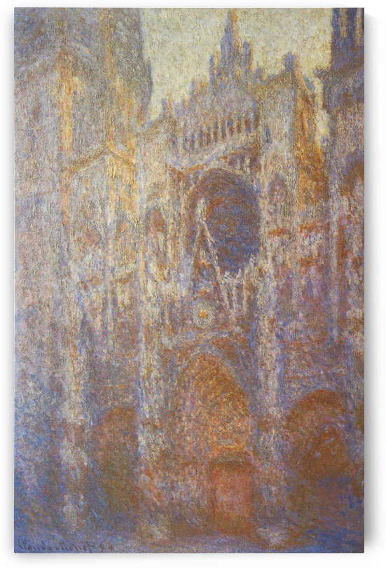 The Rouen Cathedral, West facade by Monet by Monet