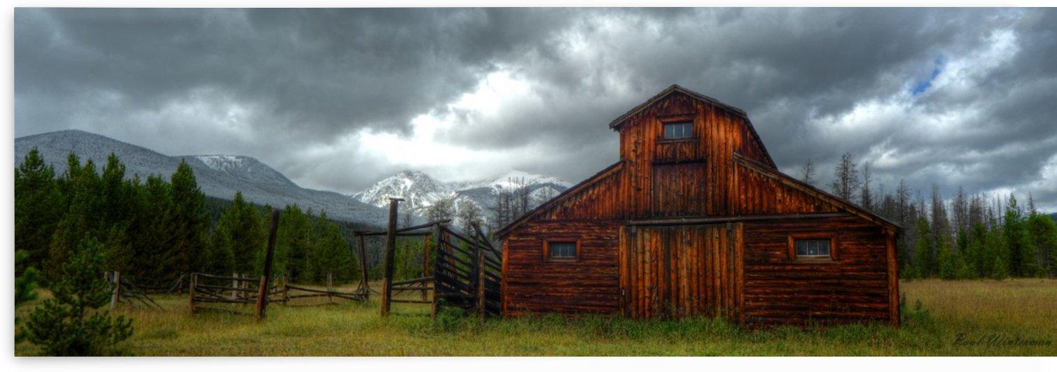 Rocky Mountain Barn by Paul Winterman