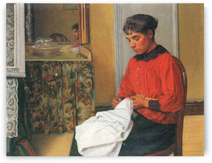 The seamstress by Felix Vallotton by Felix Vallotton