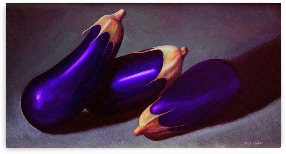 Three Violet Eggplants  by Frank Wilson