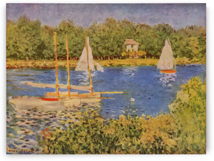 The Seine at Argenteuil Basin by Monet by Monet
