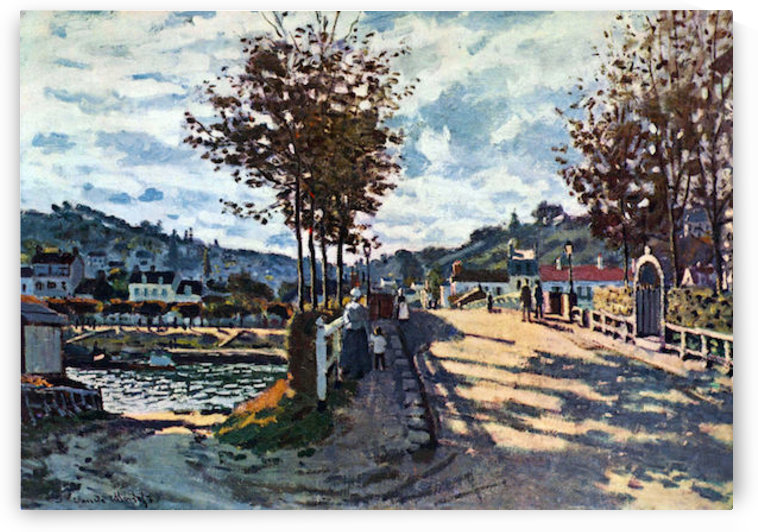 The Seine at Bougival by Monet by Monet