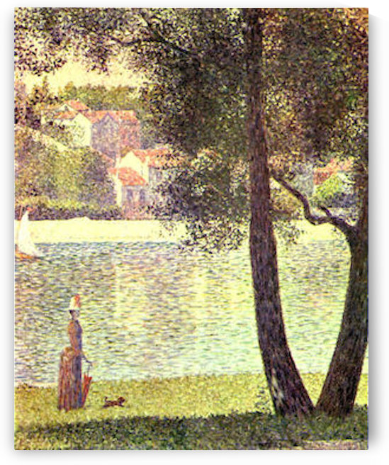 The Seine at Courbevoie by Seurat by Seurat
