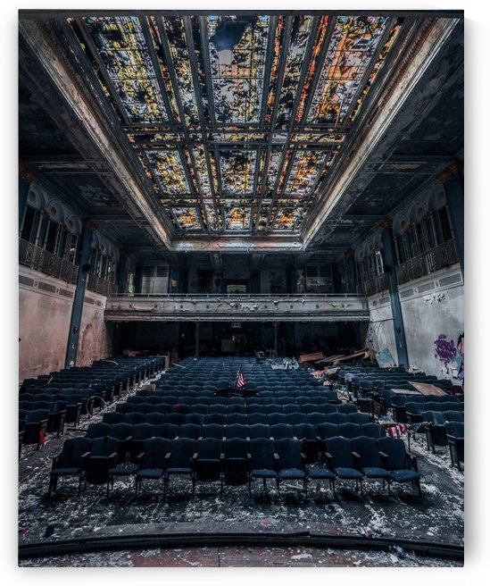 Decaying Blue Auditorium by Steve Ronin