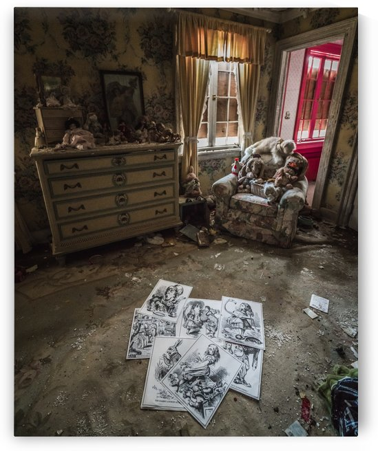 Abandoned Alice In Wonderland Room by Steve Ronin