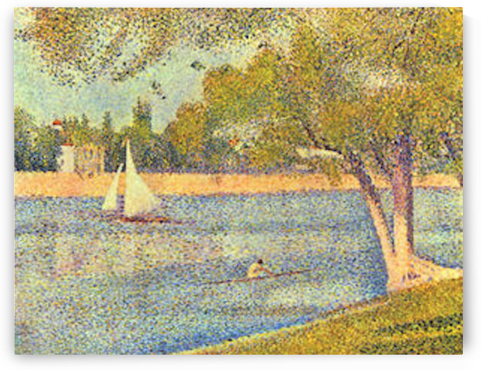 The Seine at the Grand Jatte, Spring by Seurat by Seurat