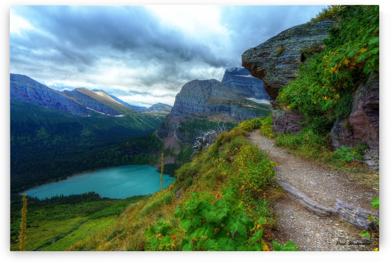 51 -2 Trail to Grinnell Glacier by Paul Winterman