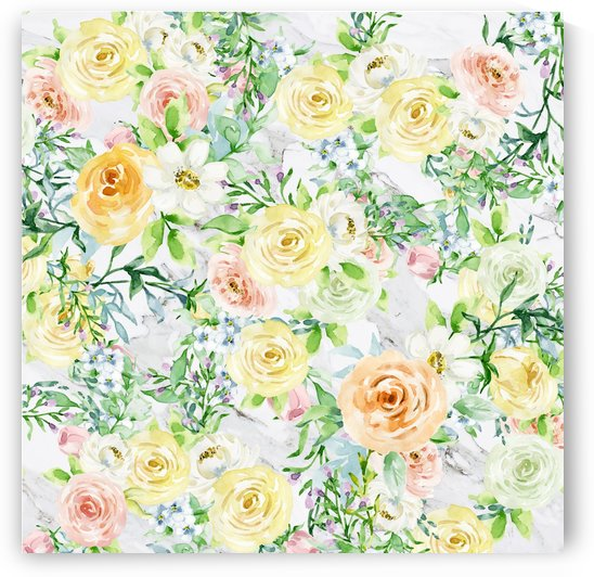 spring flowers on marble by cadinera