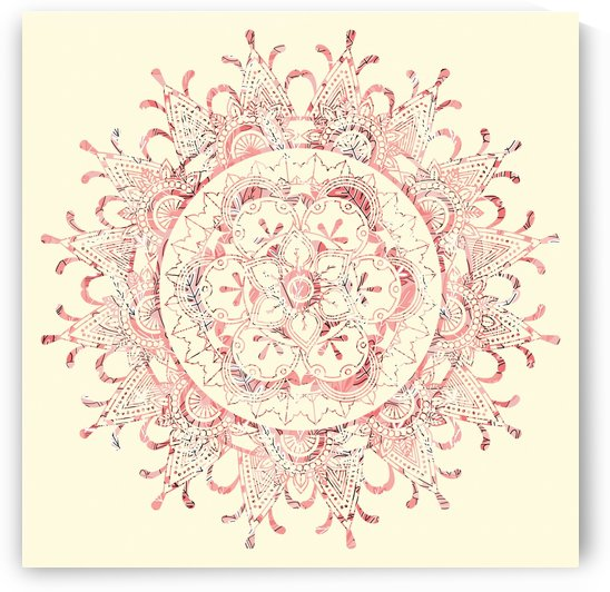 pink floral mandala by cadinera