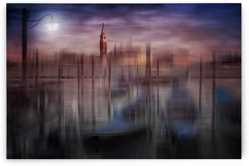 City-Art VENICE Gondolas at Sunset by Melanie Viola