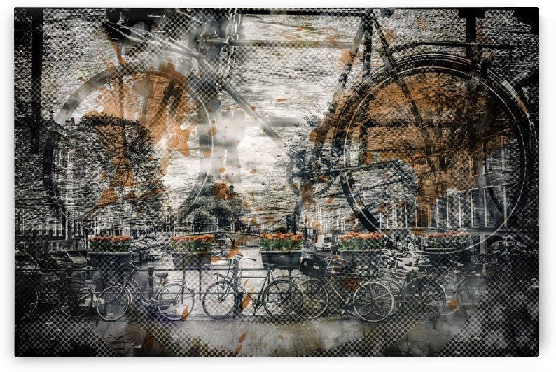 City Art AMSTERDAM Bicycles  by Melanie Viola
