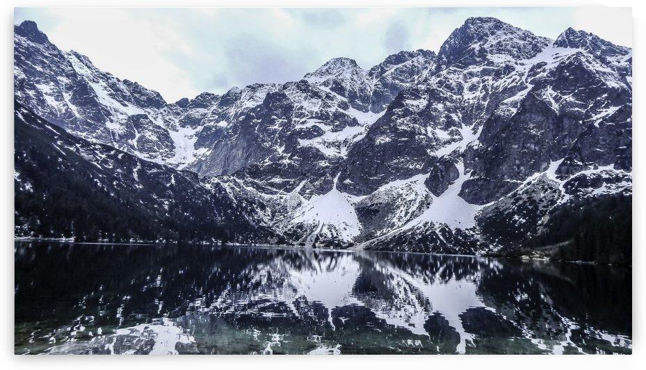 Mountains in the Lake by Ann Romanenko