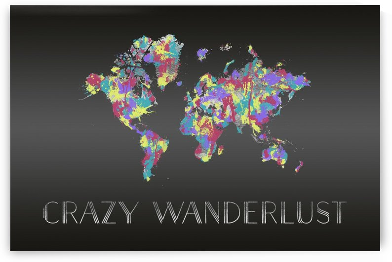 Graphic Art CRAZY WANDERLUST | Splashes by Melanie Viola