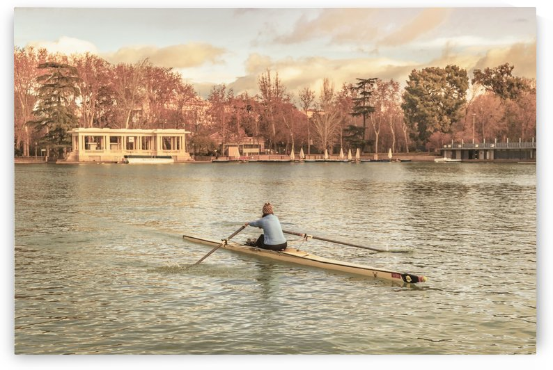 Woman Rowing at Del Retiro Park, Madrid, Spain by Daniel Ferreia Leites Ciccarino