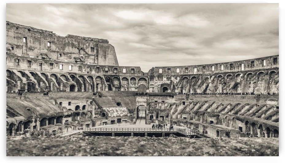 Roman Coliseum Interior View, Rome, Italy by Daniel Ferreia Leites Ciccarino