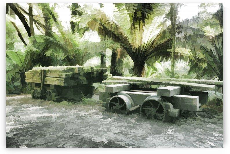 Old Sawmill Cart Digital Painting B011100_1005277 by Maxwell Jordan