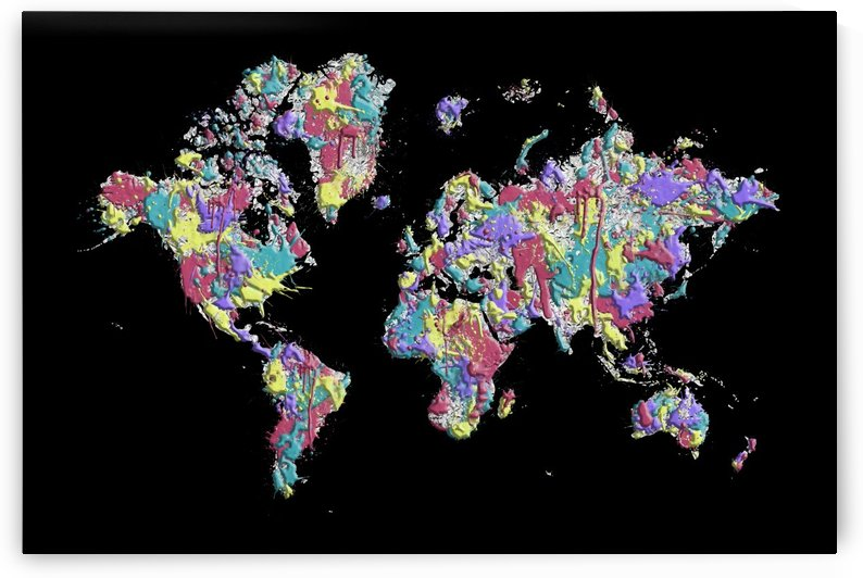POP ART World Map | Splashes by Melanie Viola