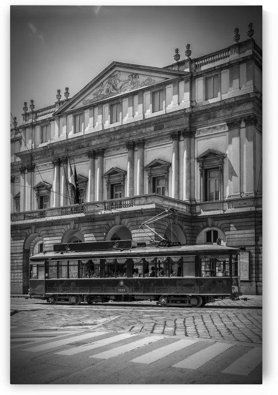 MILAN Teatro alla Scala & Tram | monochrome by Melanie Viola