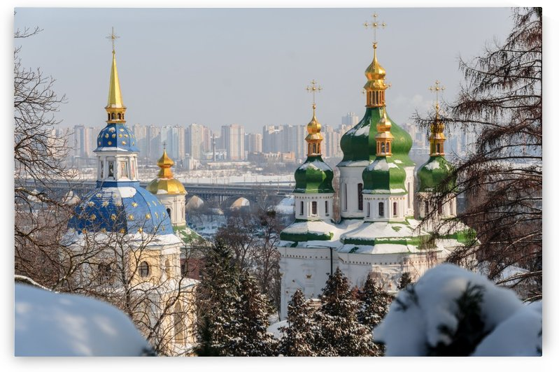 Vydubitskii Monastery in Kyiv by Ann Romanenko