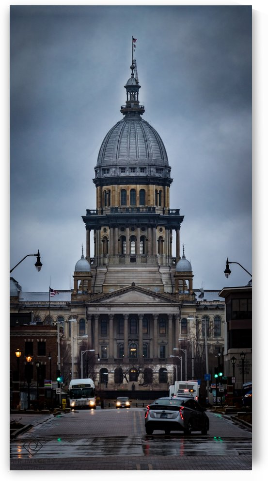 Illinois State Capitol by Jordan Williams of Air Imagery Services