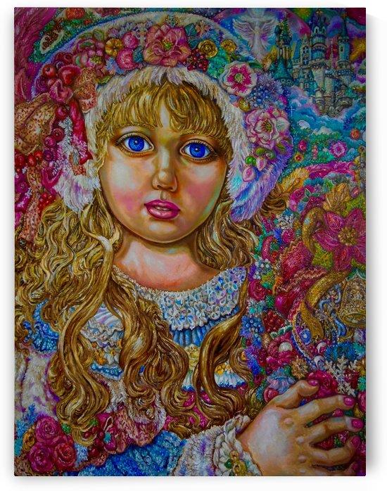 Yumi Sugai. An angel of Christmas of the Christmas wreath.i by Yumi Sugai