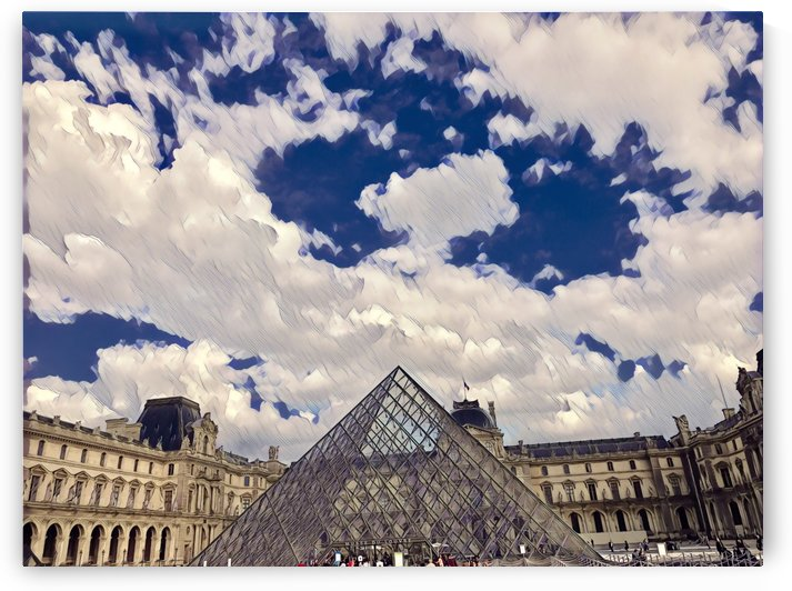 Louvre & Sky by Jessica Toth