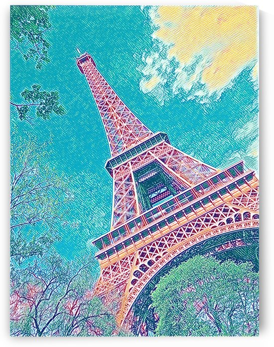 Eiffel Tower- Teal by Jessica Toth